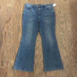 Forever 21 Plus Size Flare High Rise Jeans